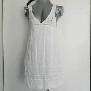 Sanctuary small white knit dress